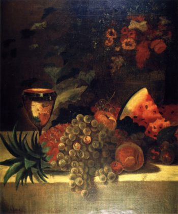 Fruit and Flower Still LIfe 1 | William Merritt Chase | oil painting