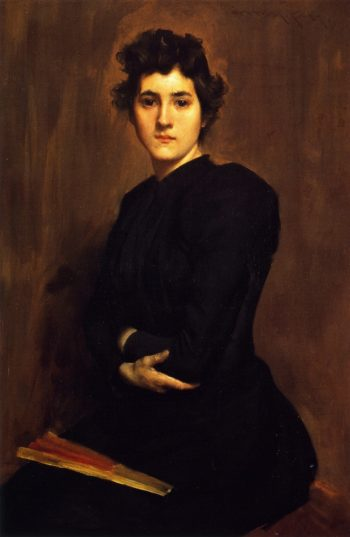 Girl in Black | William Merritt Chase | oil painting