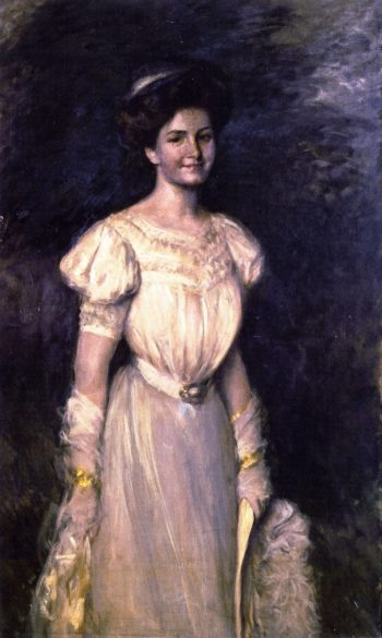 Girl in White | William Merritt Chase | oil painting