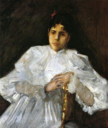 Girl in White | William Merritt Chase | oil painting