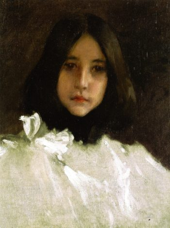 Head of a Girl | William Merritt Chase | oil painting