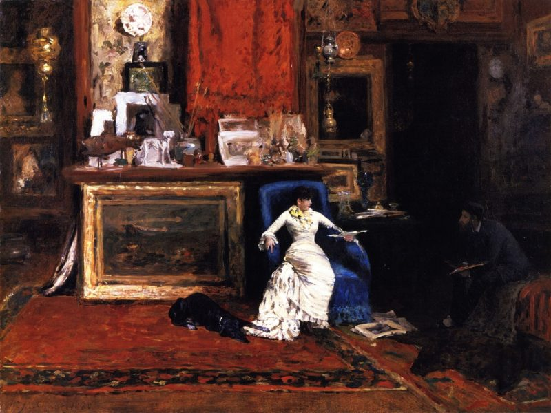Interior of the Artist's Studio | William Merritt Chase | oil painting
