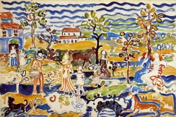 Decorative Composition | Maurice Prendergast | oil painting