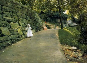 In the Park a By Path | William Merritt Chase | oil painting