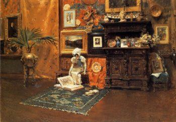 In the Studio | William Merritt Chase | oil painting