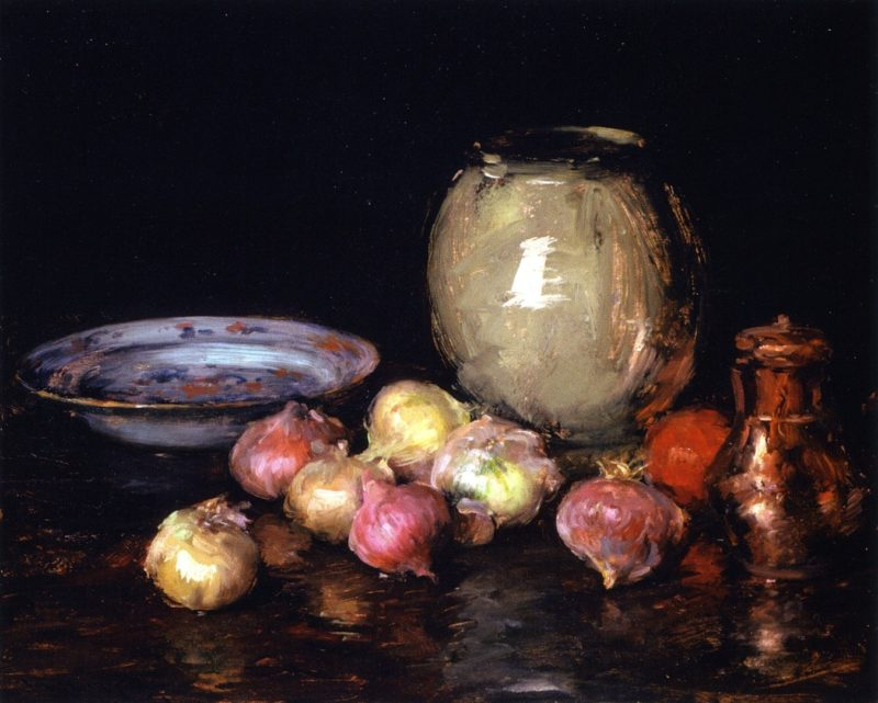 Just Onions | William Merritt Chase | oil painting