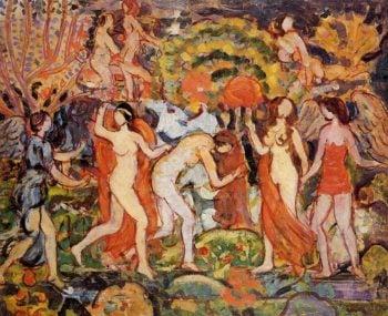 Fantasy   Maurice Prendergast   oil painting