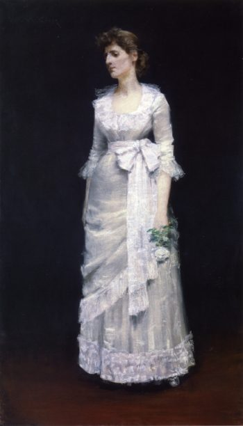 Lady in White Gown | William Merritt Chase | oil painting