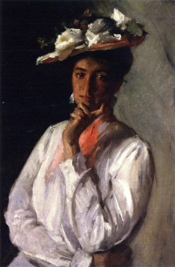 Lady in White   William Merritt Chase   oil painting