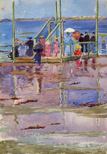 Float at Low Tide Revere Beach | Maurice Prendergast | oil painting