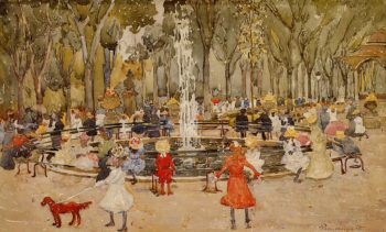 In Central Park New York | Maurice Prendergast | oil painting