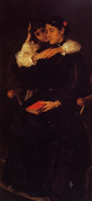 Mrs Chase and Cosy | William Merritt Chase | oil painting