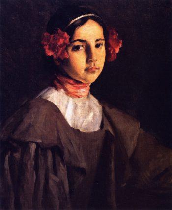 My Daughter Alice   William Merritt Chase   oil painting