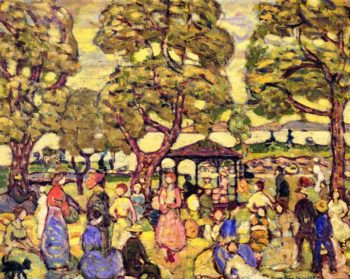 Landscape with Figures No 2 | Maurice Prendergast | oil painting
