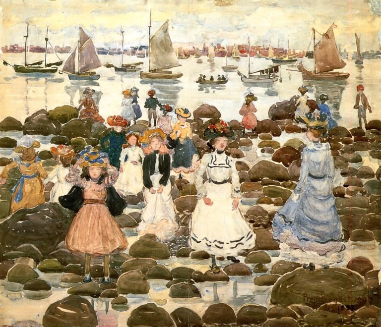 Low Tide Beachmont | Maurice Prendergast | oil painting