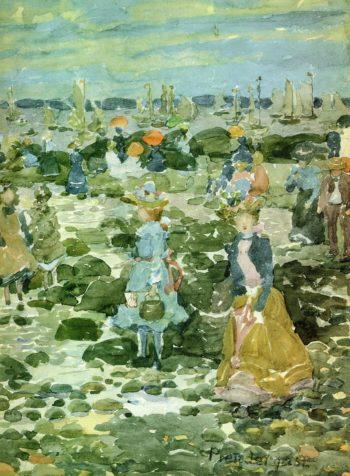 Low Tide   Maurice Prendergast   oil painting