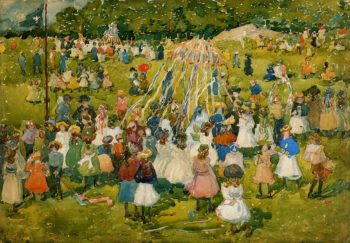 May Day Central Park | Maurice Prendergast | oil painting