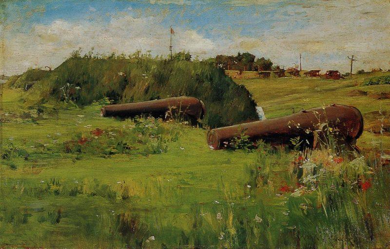 Peace Fort Hamilton   William Merritt Chase   oil painting