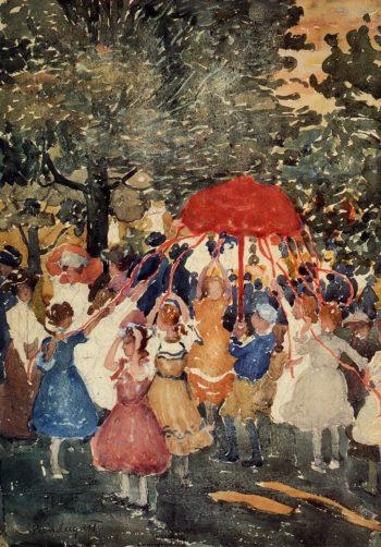 Maypole   Maurice Prendergast   oil painting
