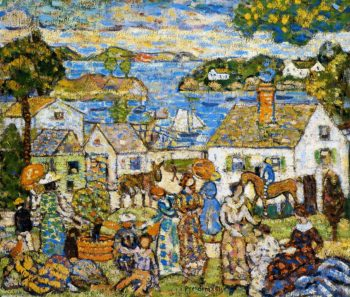 New England Harbor | Maurice Prendergast | oil painting