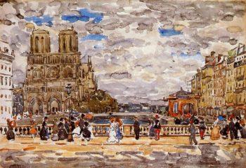 Notre Dame Paris | Maurice Prendergast | oil painting