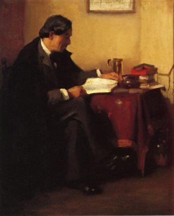Portrait of Elbert Hubbard | William Merritt Chase | oil painting