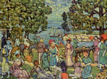 On the Beach No 3 | Maurice Prendergast | oil painting