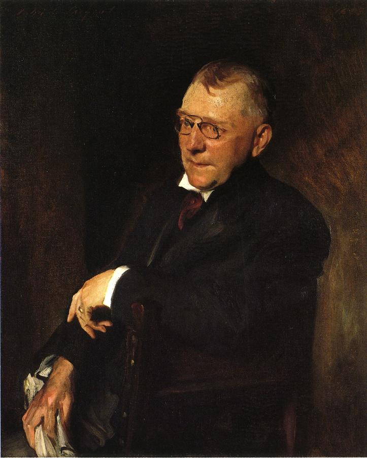 Portrait of James Whitcomb Riley | William Merritt Chase | oil painting