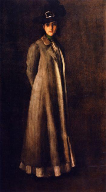 Portrait of Miss D | William Merritt Chase | oil painting