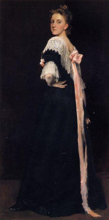 Portrait of Miss E | William Merritt Chase | oil painting