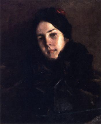 Portrait of Mrs C   William Merritt Chase   oil painting