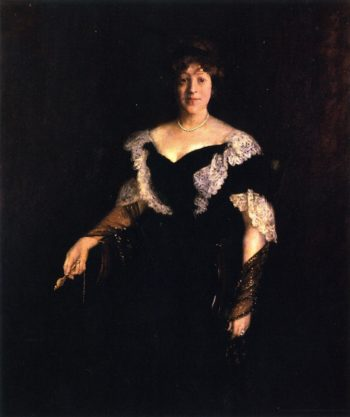 Portrait of Mrs H | William Merritt Chase | oil painting