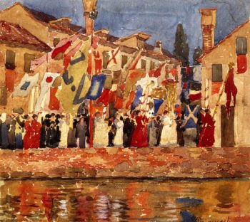 Procession Venice | Maurice Prendergast | oil painting