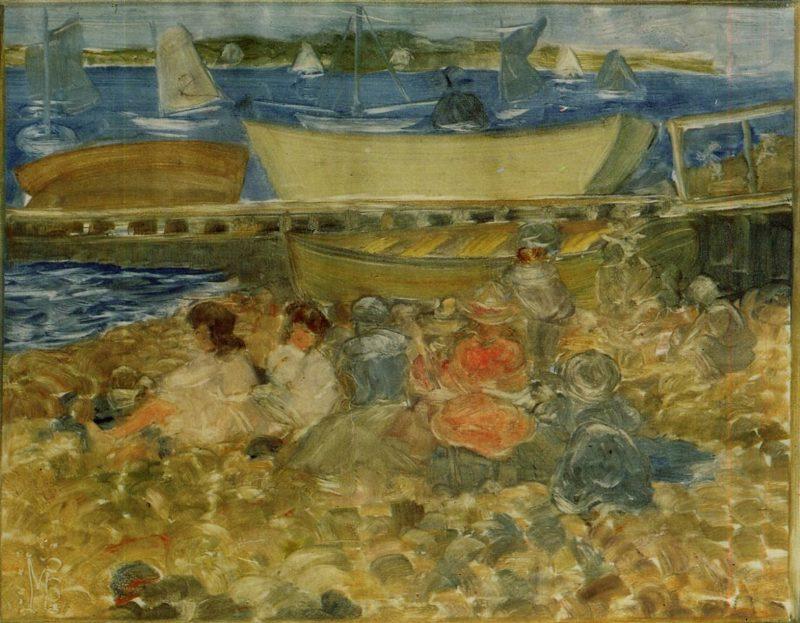 Shipyard Children Playing | Maurice Prendergast | oil painting
