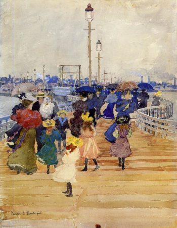 South Boston Pier | Maurice Prendergast | oil painting