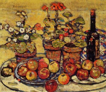 Still Life Fruit and Flowers | Maurice Prendergast | oil painting