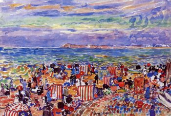St Malo No 2   Maurice Prendergast   oil painting