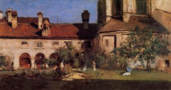 The Cloisters | William Merritt Chase | oil painting