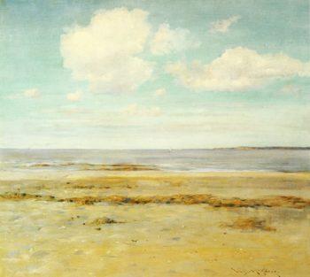 The Deserted Beach | William Merritt Chase | oil painting