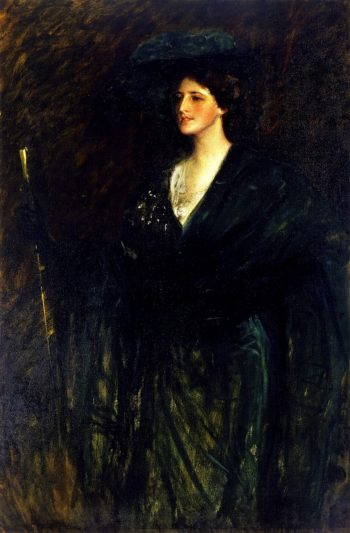 The Emerald Lady | William Merritt Chase | oil painting