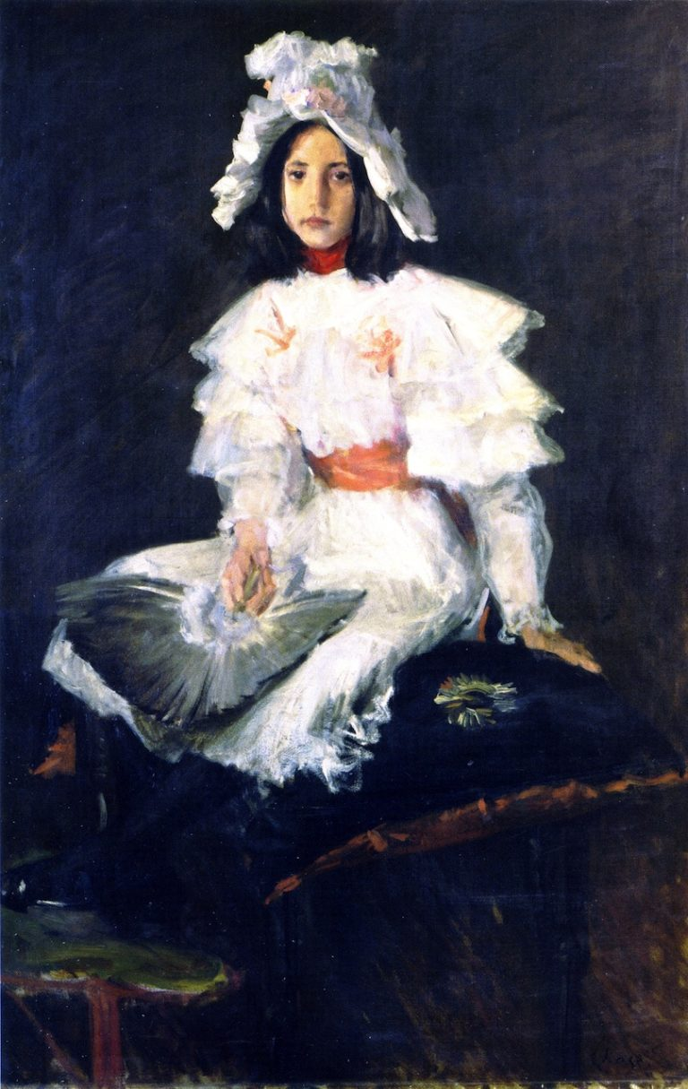 The Feather Fan | William Merritt Chase | oil painting