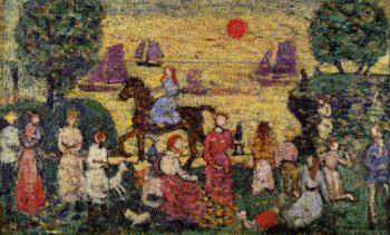 Sunset and Sea Fog   Maurice Prendergast   oil painting