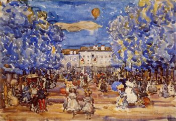 The Balloon | Maurice Prendergast | oil painting