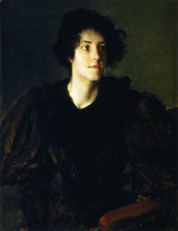 Study of a Spanish Girl   William Merritt Chase   oil painting