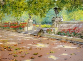 Sunlight and Shadow in Prospect Park | William Merritt Chase | oil painting