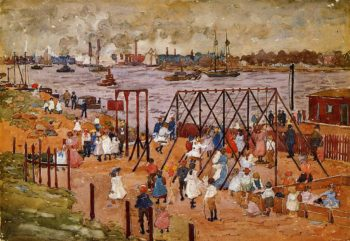 The East River | Maurice Prendergast | oil painting