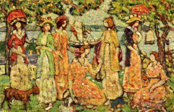 The Idlers | Maurice Prendergast | oil painting