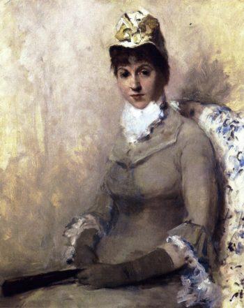 The Actress Linda Dietz Carlton   William Merritt Chase   oil painting