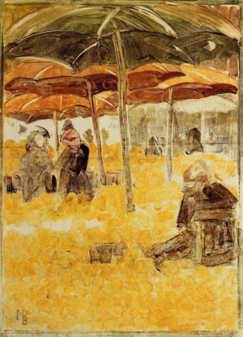 The Orange Market | Maurice Prendergast | oil painting