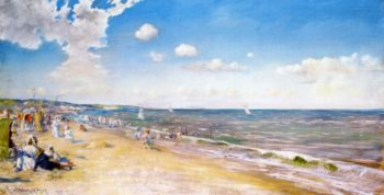 The Beach at Zandvoort | William Merritt Chase | oil painting